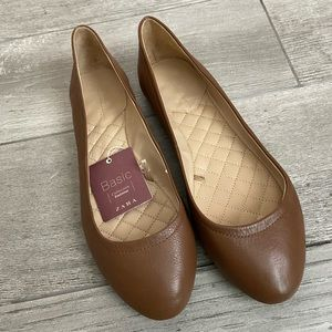 Zara Basic Brown Flats Size 39/8